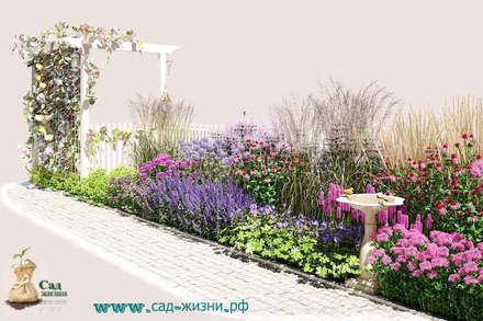 """Цветник """"В розовых облаках"""": Сады в . Автор – Сад Жизни"""