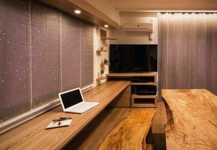 カウンターデスク: 株式会社seki.designが手掛けた書斎です。