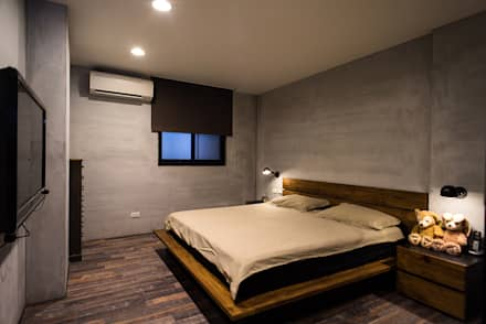 主臥:  臥室 by UNIQUE DESIGN優尼客空間設計