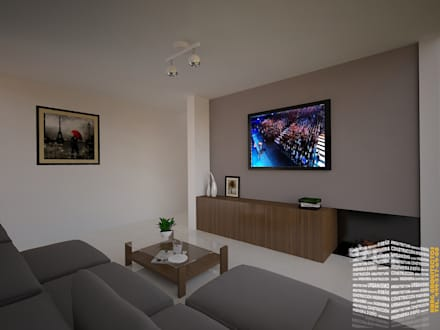 minimalistic Media room by HHRG ARQUITECTOS