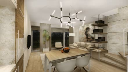 : modern Dining room by KOKON zespół architektoniczny