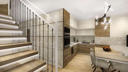 : modern Kitchen by KOKON zespół architektoniczny