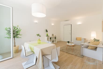 Salas / recibidores de estilo escandinavo por Home Staging & Dintorni