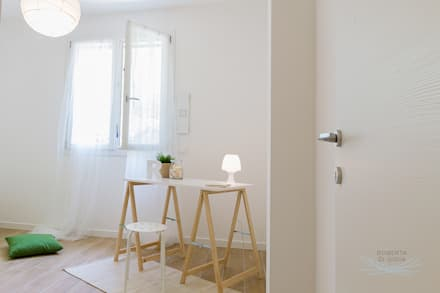 Appartamento campione in cantiere: Stanza dei bambini in stile in stile Scandinavo di Home Staging & Dintorni
