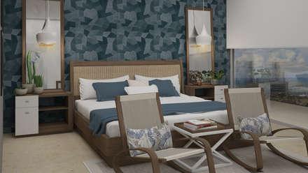 mediterranean Bedroom by CONTRASTE INTERIOR