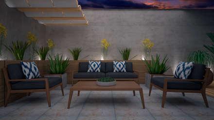 Casa Muestra Antigua: Terrazas de estilo  por CONTRASTE INTERIOR