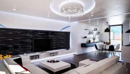 Ortles: Soggiorno in stile in stile Moderno di Denis Confalonieri - Interiors & Architecture