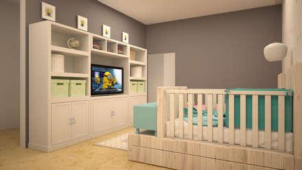 modern Nursery/kid's room by CONTRASTE INTERIOR