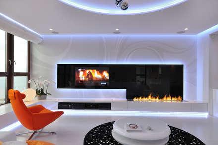Klassische Wohnzimmer Von Clearfire   Lareiras Etanol