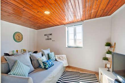 Sala de estar: Salas de estar escandinavas por menta, creative architecture