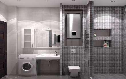 Ванные комнаты: Ванные комнаты в . Автор – Мастерская дизайна Онищенко Марии