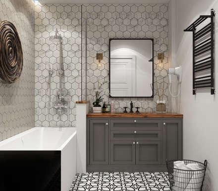 : Baños de estilo  por Interior designers Pavel and Svetlana Alekseeva
