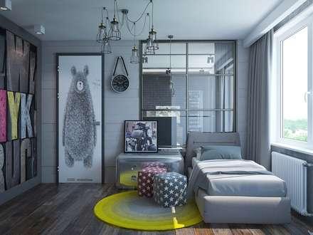 Dormitorios infantiles de estilo  por Interior designers Pavel and Svetlana Alekseeva