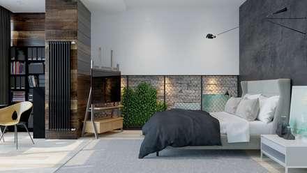 : Recámaras de estilo minimalista por Interior designers Pavel and Svetlana Alekseeva