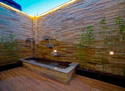 露臺浴室:  水療 by 世家新室內裝修公司