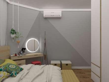 ห้องนอน by UNUM - ARQUITETURA E ENGENHARIA