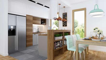 Dom w Zielonkach: styl , w kategorii Kuchnia zaprojektowany przez APP Proste Wnętrze Maria Podobińska-Tuleja