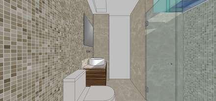 Baño habitación principal: Baños de estilo moderno por MARATEA Estudio