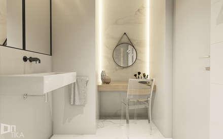 Mieszkanie z marmurem, Katowice 80 m2: styl , w kategorii Łazienka zaprojektowany przez TIKA