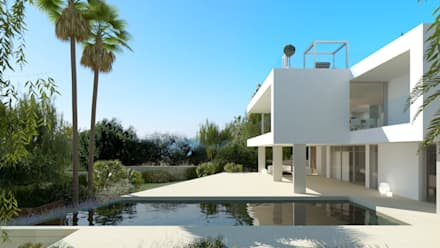 Refurbishment of existing house and pool in Santa Ponsa: modern Pool by Tono Vila Architecture & Design