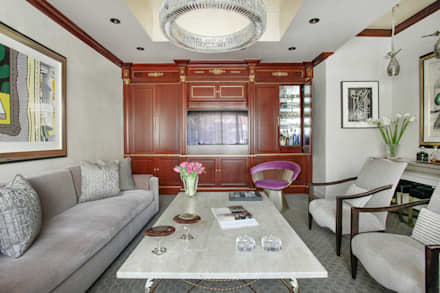 Art Collectors Residence: classic Media room by JKG Interiors