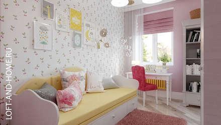 АКАДЕМИЯ ПАРК, 113 КВ.М., ЭЛЕГАНТНОСТЬ: Детские комнаты в . Автор – Loft&Home
