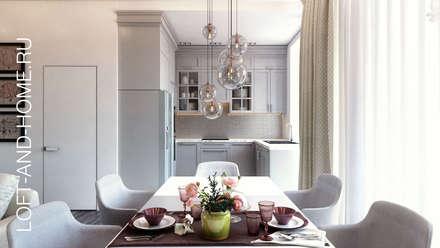 ДУПЛЕКС, КЕМБРИДЖ, НЕОКЛАССИКА: Гостиная в . Автор – Loft&Home