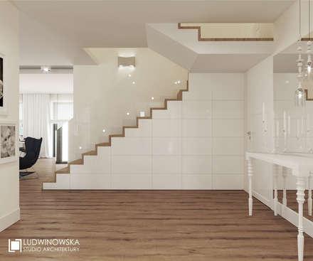 RIFLESSO: styl , w kategorii Korytarz, przedpokój i schody zaprojektowany przez Ludwinowska Studio Architektury