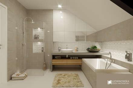 ludwinowska.pl: styl , w kategorii Łazienka zaprojektowany przez Ludwinowska Studio Architektury