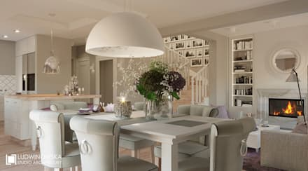classic Dining room by Ludwinowska Studio Architektury