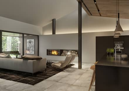 Living Room : Salas de estar minimalistas por Tendenza -  Interiors & Architecture Studio