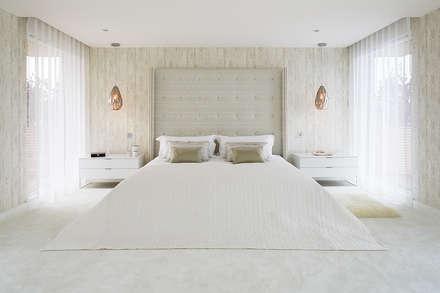master bedroom: mediterranean Bedroom by niche pr