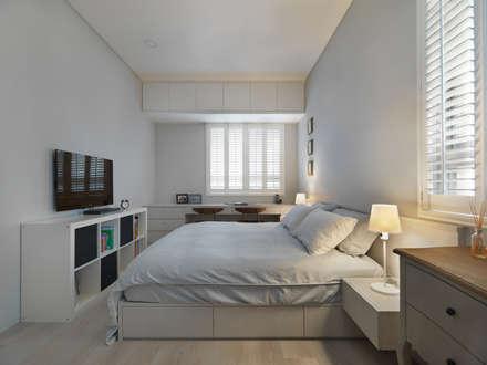 美式人文:  臥室 by 倍果設計有限公司