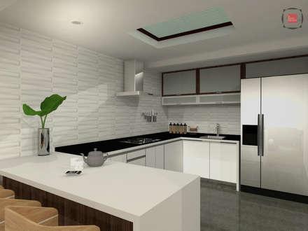 comedor cocina: Cocinas de estilo moderno por JELKH Design Architects s.a.s