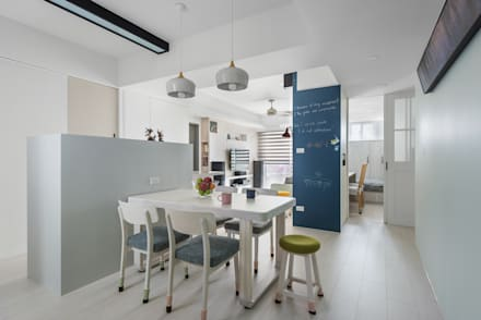 scandinavian Dining room by 倍果設計有限公司