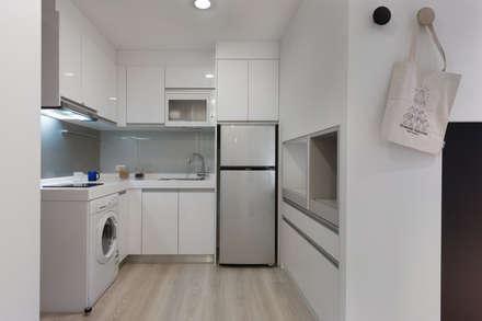 1+1複層趣:  廚房 by 倍果設計有限公司