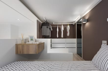 scandinavian Dressing room by 倍果設計有限公司