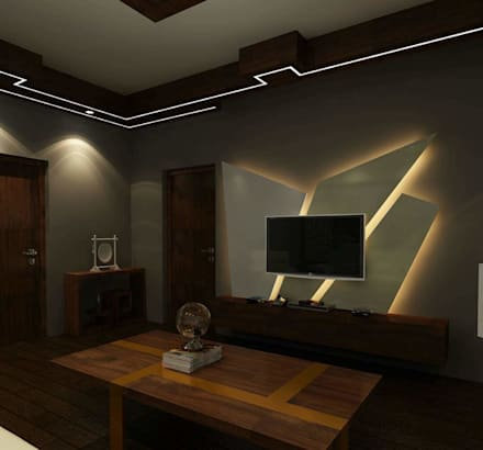 modern Media room by Avant Garde Design