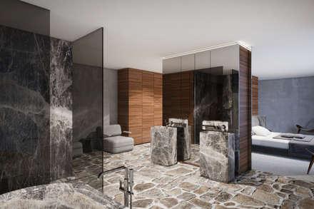 Haus K: Moderne Badezimmer Von Destilat Design Studio GmbH
