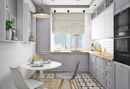 scandinavian Kitchen by Ирина Рожкова - частный дизайнер интерьера