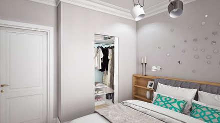 Closets de estilo escandinavo por Ирина Рожкова - частный дизайнер интерьера