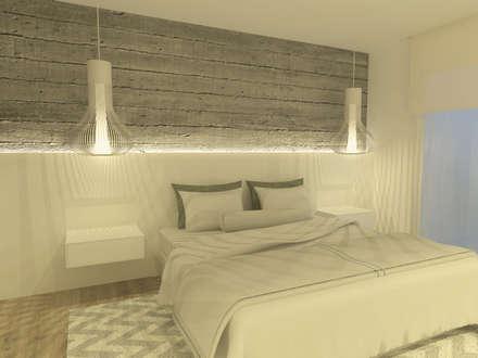 Carrer Bilbao- Barcelona: Dormitorios de estilo minimalista de Upper interiorismo