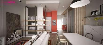 Ristrutturazione casa privata Taranto: Sala da pranzo in stile in stile Eclettico di progettAREA interni & design