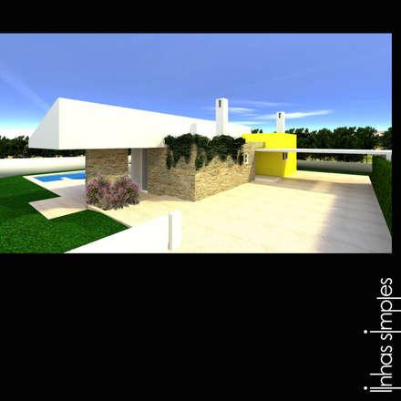 Moradia / Dweling (Sesimbra): Casas mediterrânicas por Linhas Simples