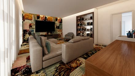 Lounge | Sala Artistas: Salas multimédia ecléticas por Living Atmosphere