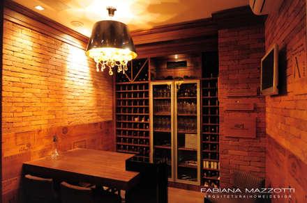 rustic Wine cellar by Fabiana Mazzotti Arquitetura e Interiores