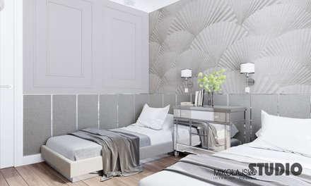 guestroom: ausgefallene Schlafzimmer von MIKOLAJSKAstudio