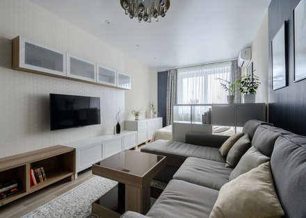 Спальня-гостиная: Гостиная в . Автор – Студия Анастасии Бархатовой