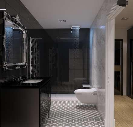 GN İÇ MİMARLIK OFİSİ – Çatı projesi Mit Müsteşar Ahmet Bey: modern tarz Banyo