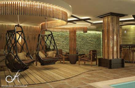 Piscinas de estilo  por Архитектор-дизайнер Анастасия Ковальчук